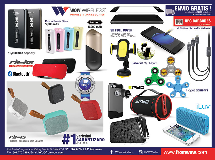 Power Bank, Bluetooth Speakers, Cables, Spinners, Screen Protectors