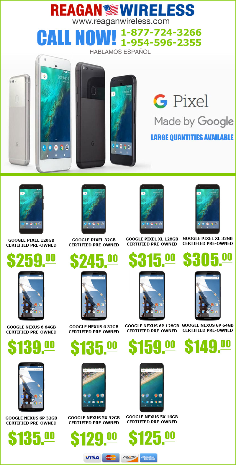 Google Certified Pre-owned Phones at Reagan Wireless