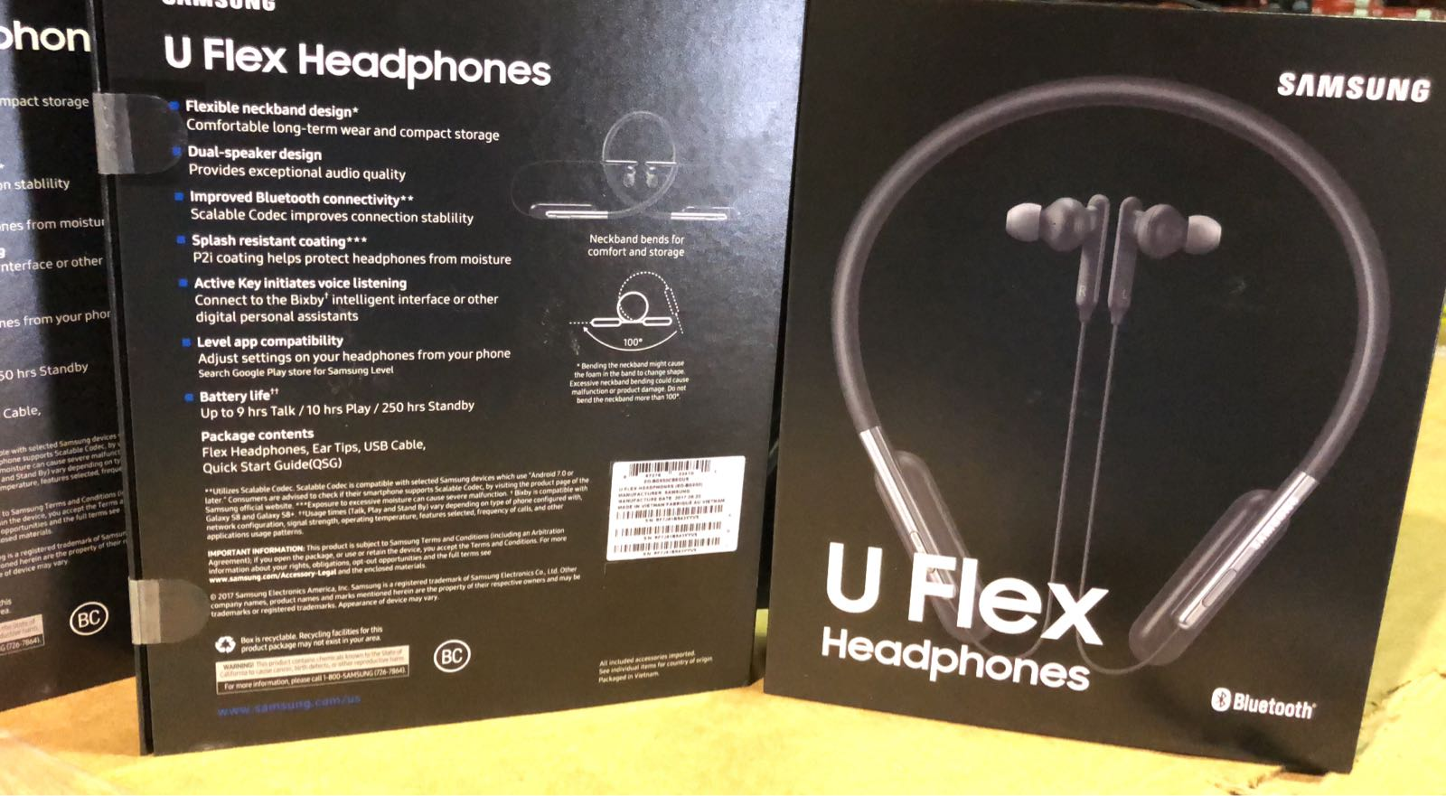 ✨🇺🇸 MEMORIAL DAY WEEKEND SALE🇺🇸✨ SAMSUNG U FLEX BLUETOOTH HEADPHONES (EO-BG950CBEGWW). NEW IN MASTER CARTON.