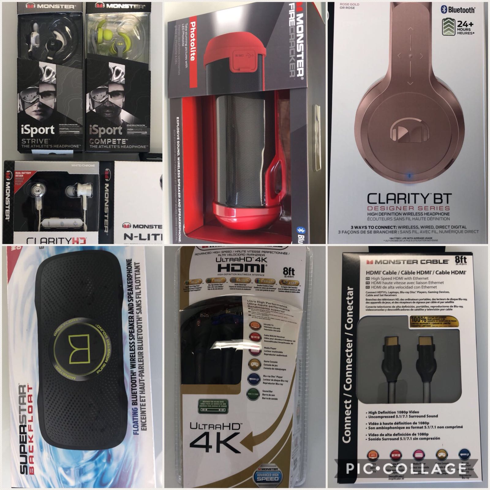 ‼Monster Products Now Available‼ Bluetooth Headphones/Speakers/HDMI Cables. PM for Full Price List.