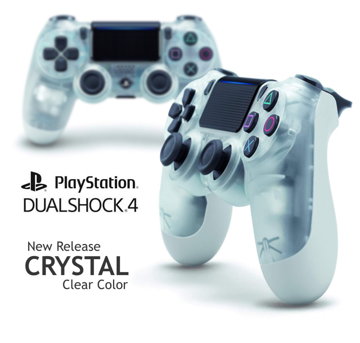 Sony DualShock 4 Wireless Controller for PlayStation 4 - Crystal Clear