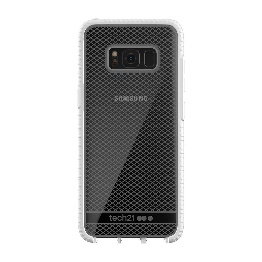Brand New Retail Master Carton Tech21 Evo Check Case Cover for Samsung Galaxy S8 Clear White Local In Miami!