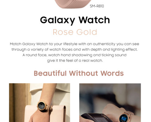 Galaxy watch rosa al por myaor