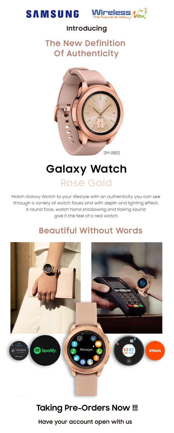 Galaxy Watch - Rose Gold