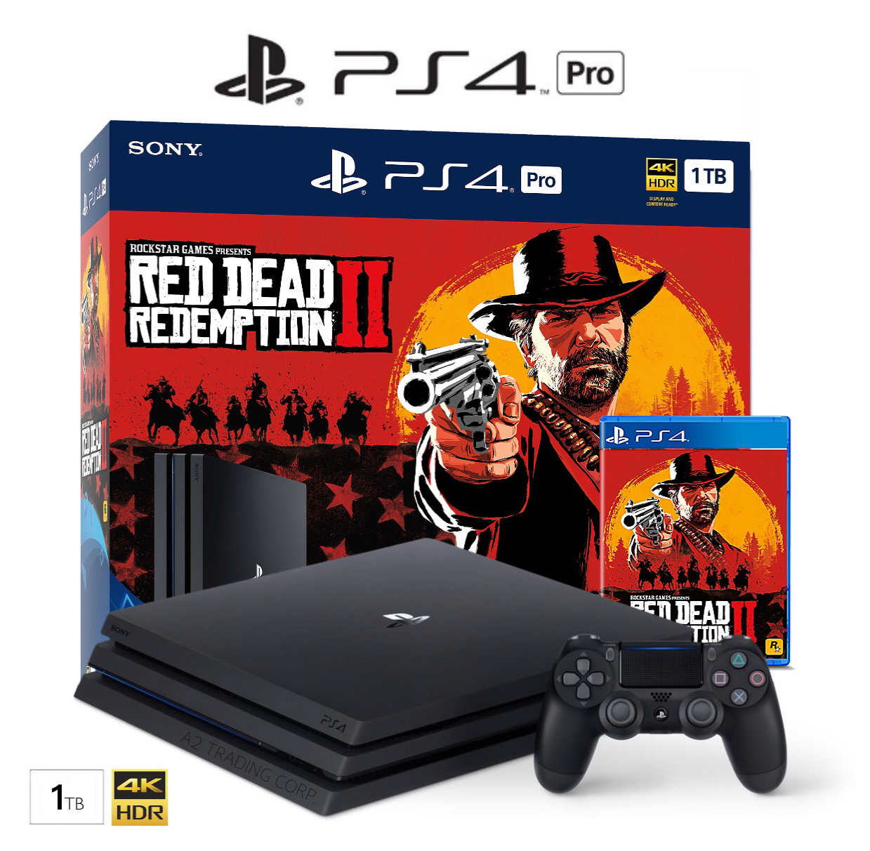 Sony PS4 PRO 1TB - Red Dead Redemption 2 Bundle
