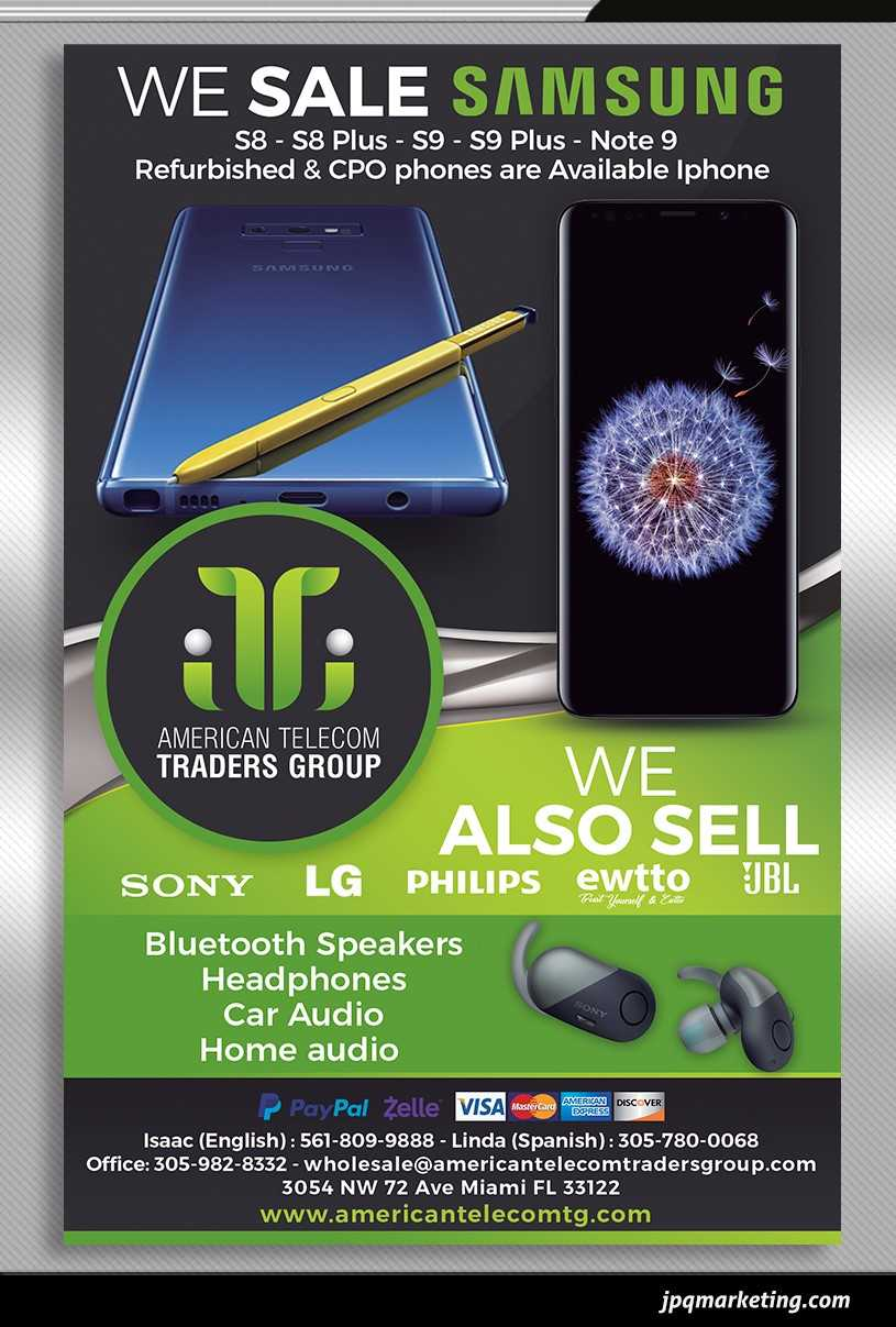 American Telecom Traders Group: Mayorista de Samsung, Apple, LG | Celulares, Accesorios, Audio