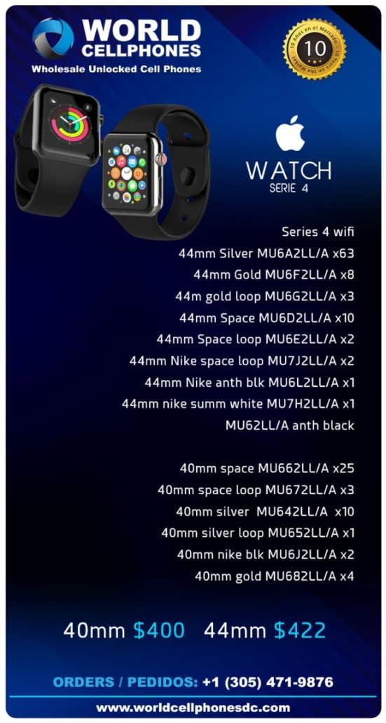 apple watch serie 4 al por mayor