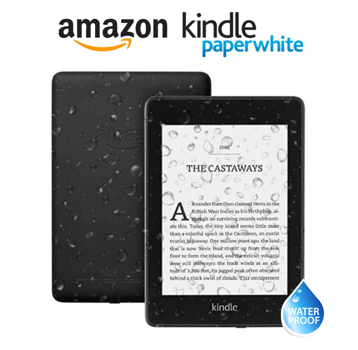 "New Kindle Paperwhite 6"" E-Reader 8GB - Black"