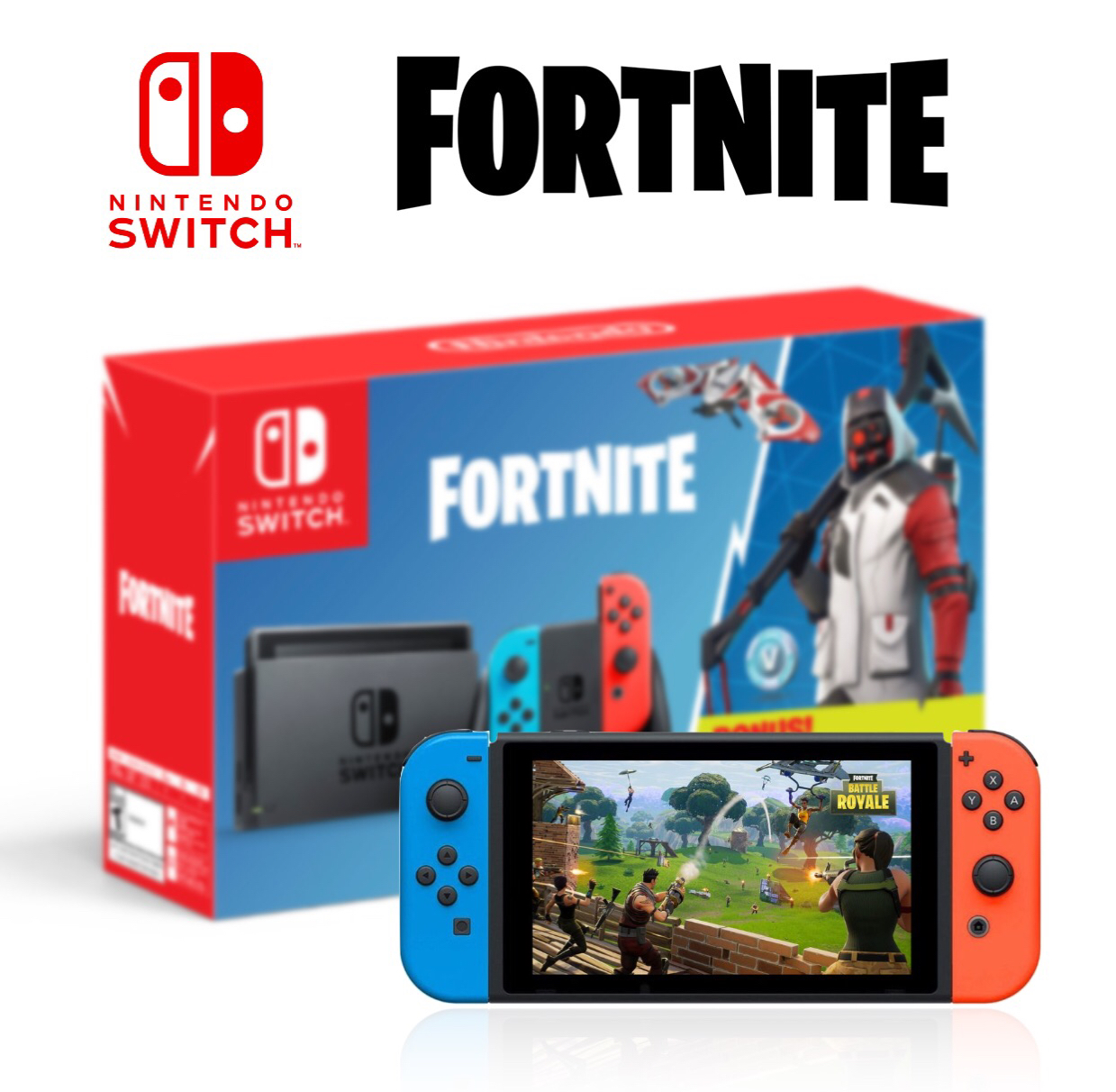 Nintendo Switch Fortnite Double Helix Console Bundle