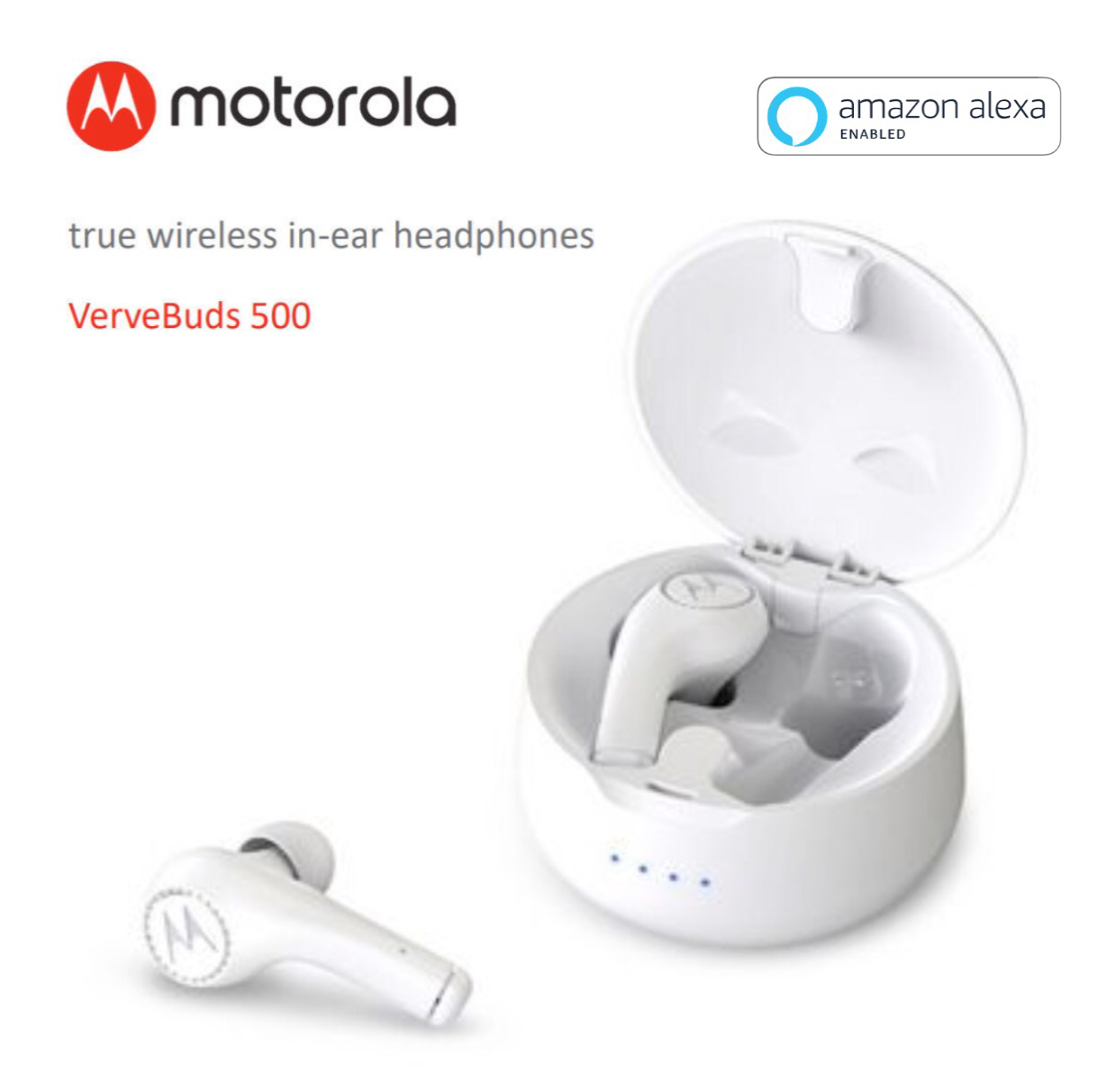 Motorola VerveBuds 500 True Wireless in-ear Headphones with Amazon Alexa