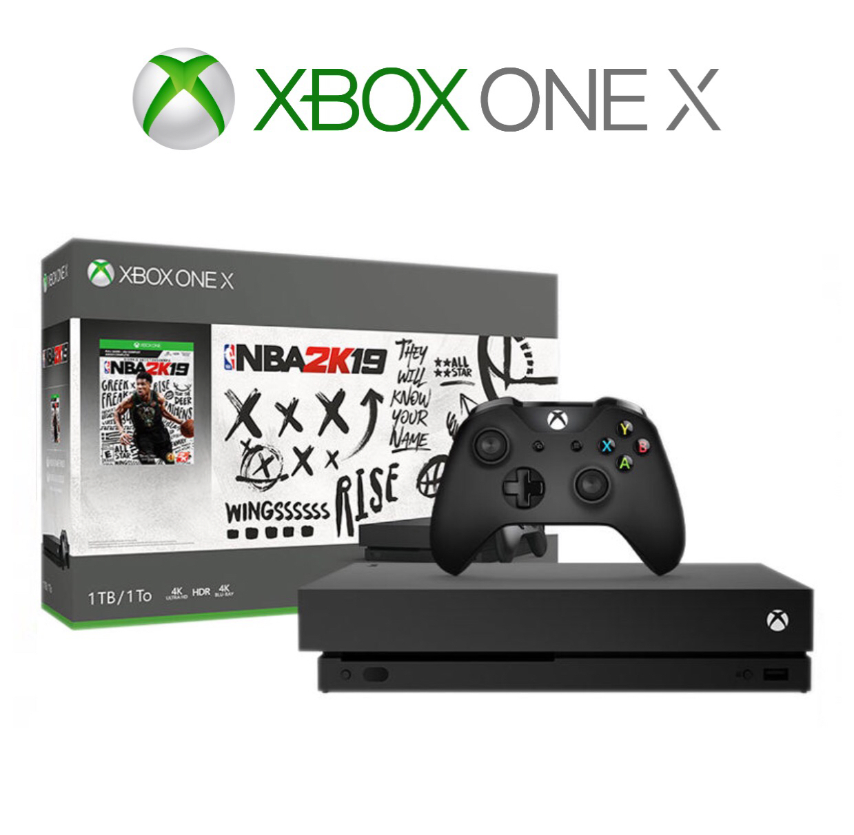 Microsoft Xbox One X 1TB NBA 2K19 Bundle