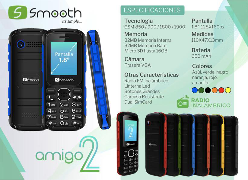 Smooth Amigo 2 Celulares